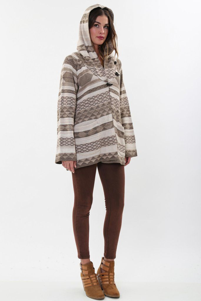 Goddis Avril Hooded Jacket in Driftwood 'LAST ONE'
