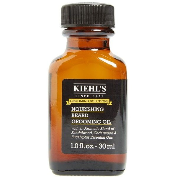 Men's Kiehl's Since 1851 Nourishing Beard Grooming Oil ($27) ❤ liked on Polyvore featuring men's fashion, men's grooming, men's shaving, no color, mens hair brush, mens grooming, mens hair comb and mens comb