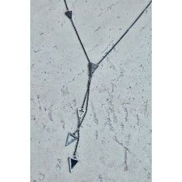 Triangle Pendant Lariat Necklace