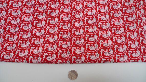 Westfalenstoffe kip stof rode katoenen stof door AislingDezines