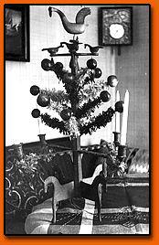 Julträd på Blekinge museum