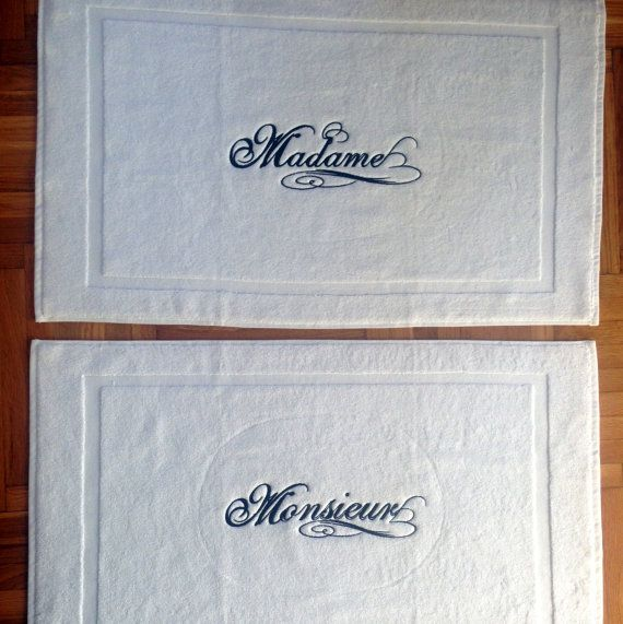 BATH MAT-2pcs embroidered Tub by letsdecorateonline on Etsy