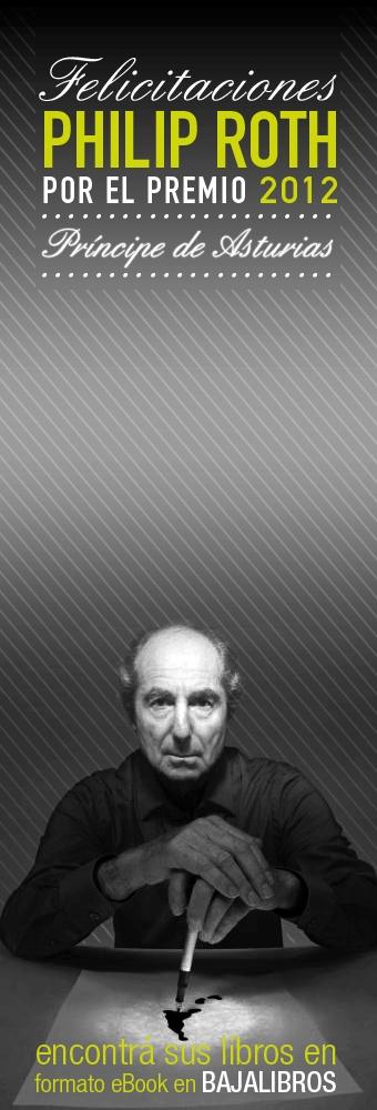 Homenaje a Philip Roth por su Premio Príncipe de Asturias a las Letras 2012.