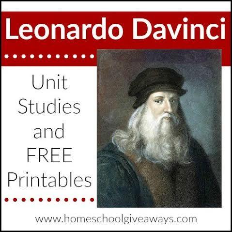 Leonardo Da Vinci Unt Studies and FREE Printables