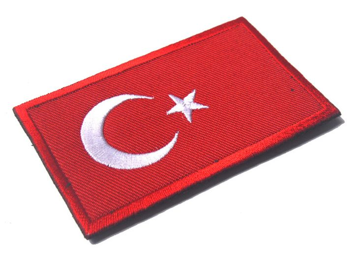 5pcs/lot Turkish Morale Patch Holder Flag Patch Turkey Embroidered Military Tactical BadgesFabric Armband Stickers