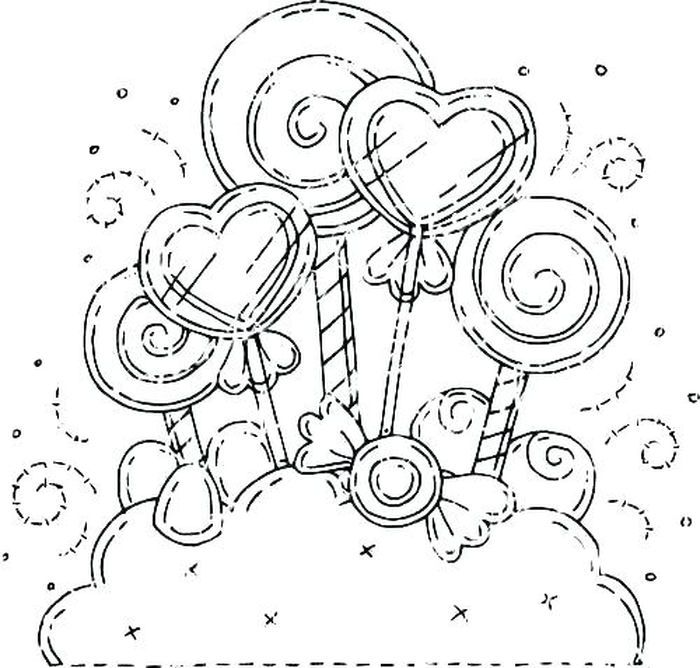 Candy Coloring Pages For Kids Heart Coloring Pages Candy