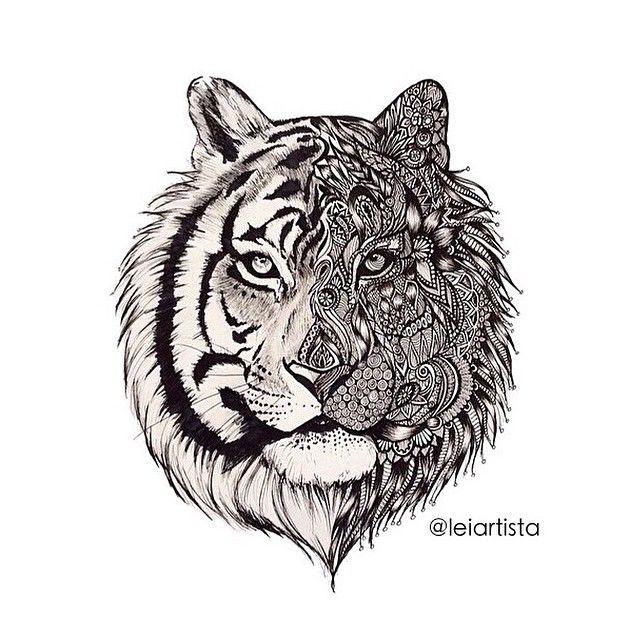 Tiger Zentangle Tattoo Inspiration | tattoos | Tatuajes ...