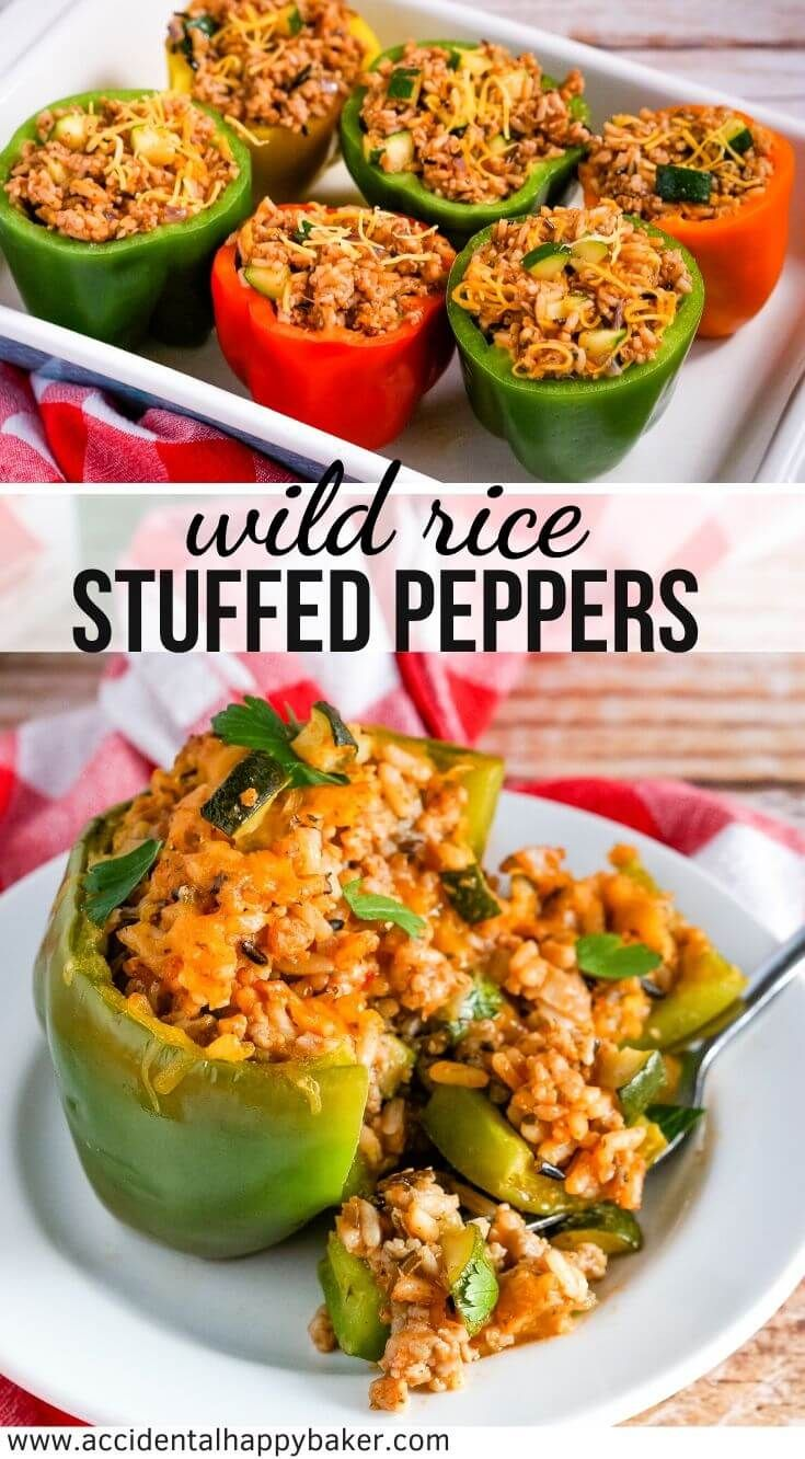 Wild Rice Stuffed Bell Peppers Take Wild Rice Mix Sausage Bell Peppers And Veggies And Turn It Into A In 2020 Stuffed Peppers Stuffed Peppers With Rice Thyme Recipes
