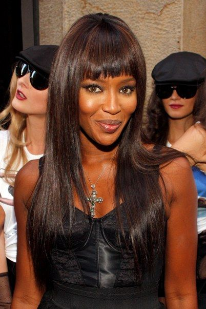 Naomi Campbell Hair Bangs 130 best images...