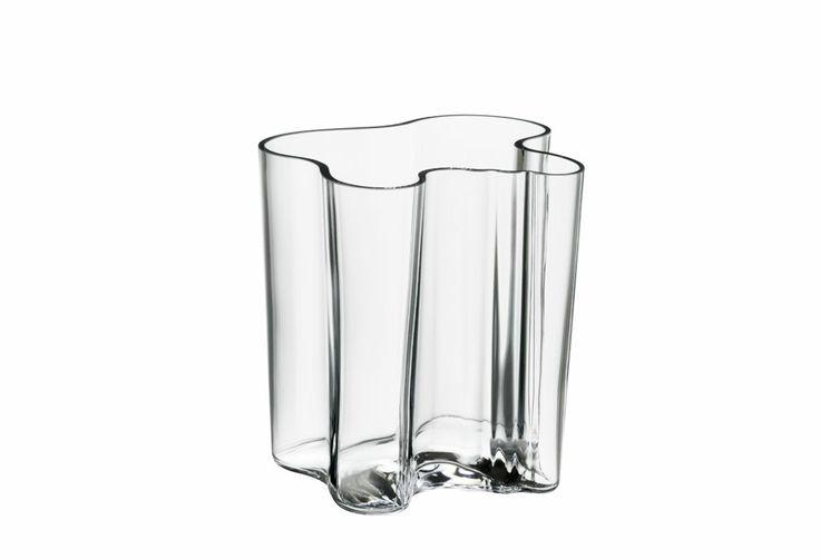Vase Aalto 20 cm transparent Aalto, Alvar : PROMO design IIttala - Design Ikonik