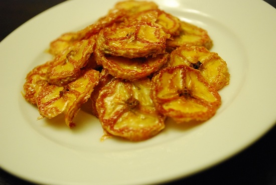 Baked Banana Chips Recipe - 0 Points +