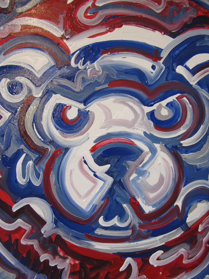 Chicago Cubs Painting by Justin Patten