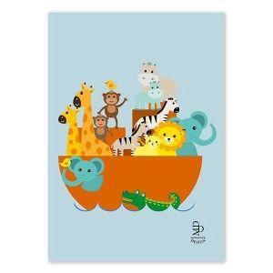 Plakat print Noas ark barnerom jenterom gutterom