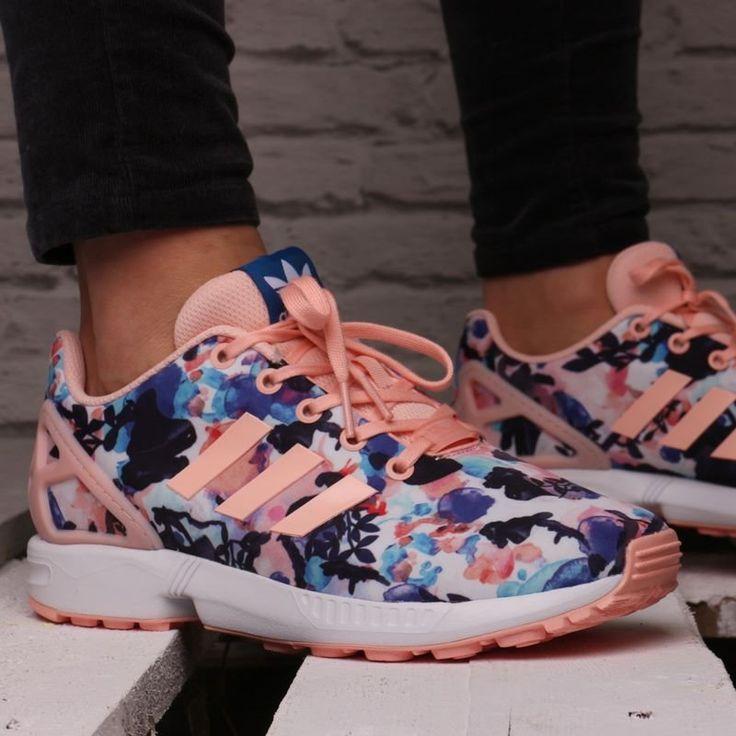 adidas zx flux floral rosa