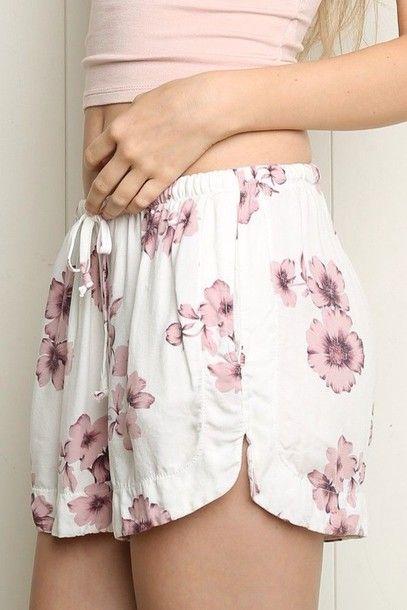 Floral printed #shorts