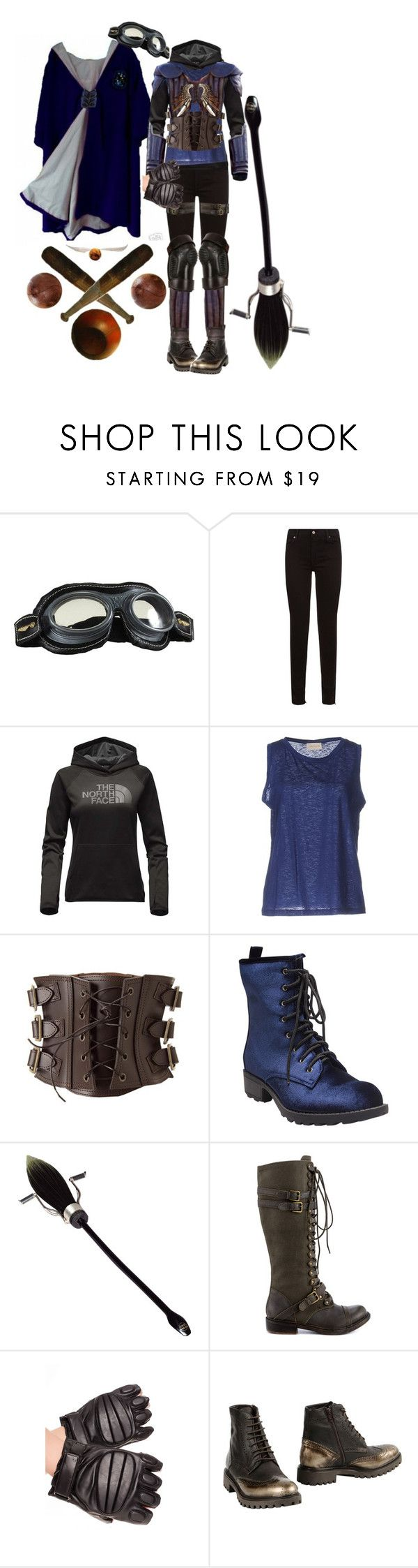 """female Ravenclaw quidditch uniform"" by leopardwolf ❤ liked on Polyvore featuring 7 For All Mankind, The North Face, Momonì, Wet Seal, Nimbus, ZIGIgirl, Carlo Pazolini, LA MARTINA, harrypotter and hogwarts"