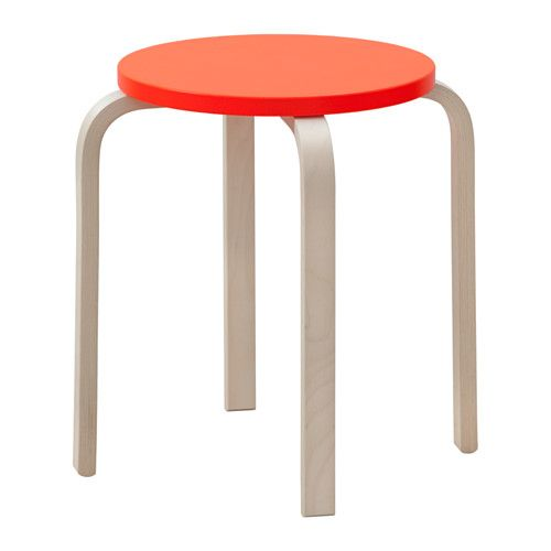 IKEA - FROSTA, Stool, The stool can be stacked, so you can keep several on hand and store them in the same space as one.