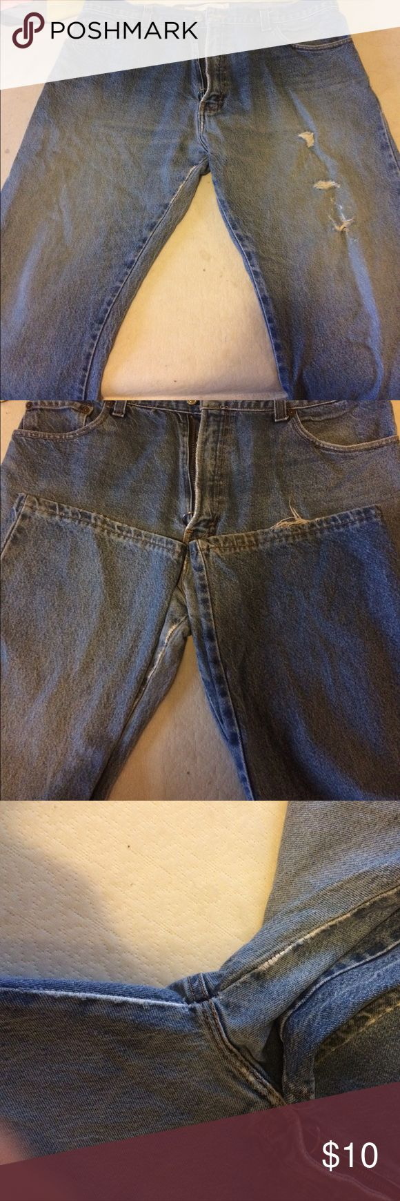 Men's Levi jeans Some wear as shown, nothing major good work jeans, price firm Levi's Jeans Bootcut