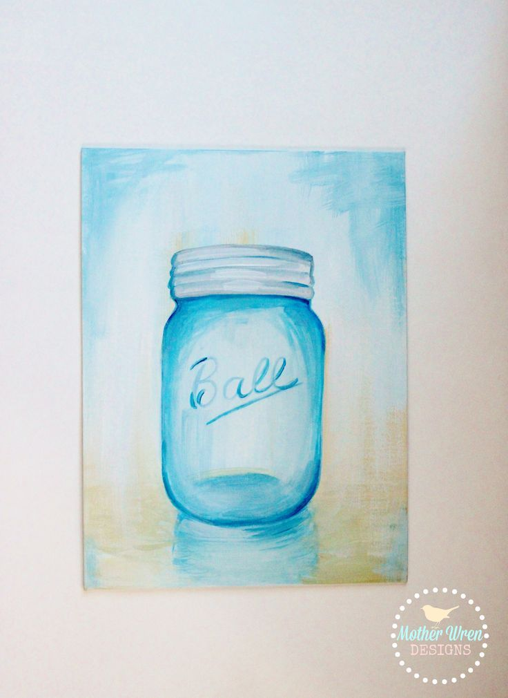 How To Acrylic Paint N Sip Of Mason Jars