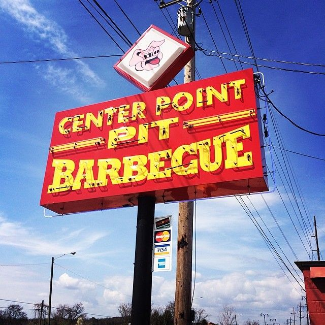 Check Out Center Point Pit Barbecue in Hendersonville, TN as seen on Diners, Drive-ins and Dives and featured on TVFoodMaps. Known for serves traditional shoulder pull and a holiday ham with a fiery finish