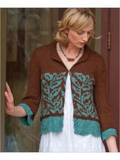 Cloisonne Jacket | InterweaveStore.com Pretty - but I would choose other colors to make this in.