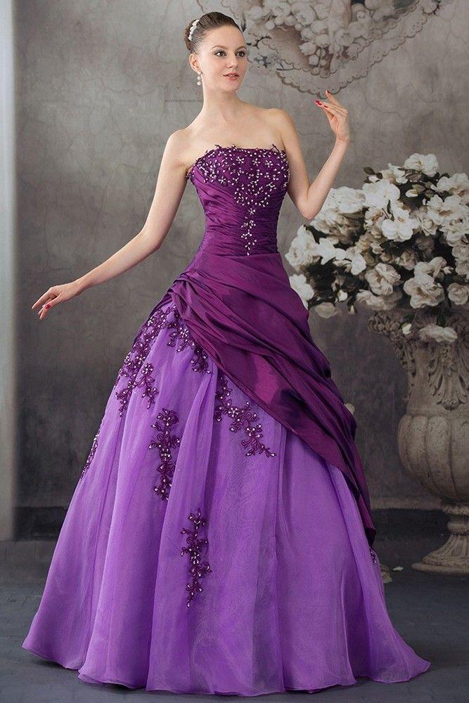 Convertible Elegant Purple Evening Dress Bridesmaid Dress
