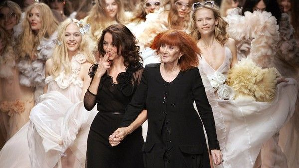 Sonia Rykiel, right, and her daughter Nathalie Rykiel, artistic director for the…