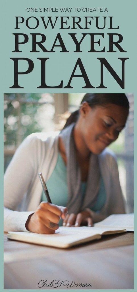 One Simple Way to Create A Powerful Prayer Plan