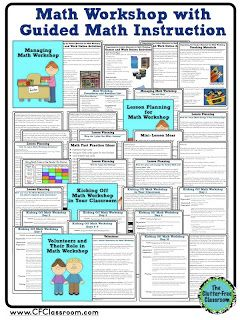 How to Organize and Manage a Math Workshop with Guided Math Instruction {Tips, Photos, Ideas and Printables}