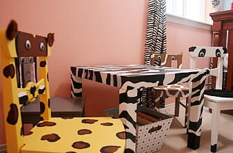 animal print painted furniture