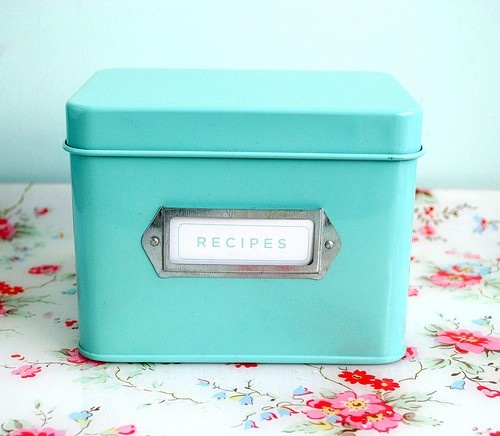 Recipe tin in duck egg blue Martha Stewart Collection.  Christmas idea for me Anyone?? :)
