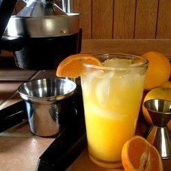 Orange Crush! Fresh Squeezed Orange and Vodka Cocktail