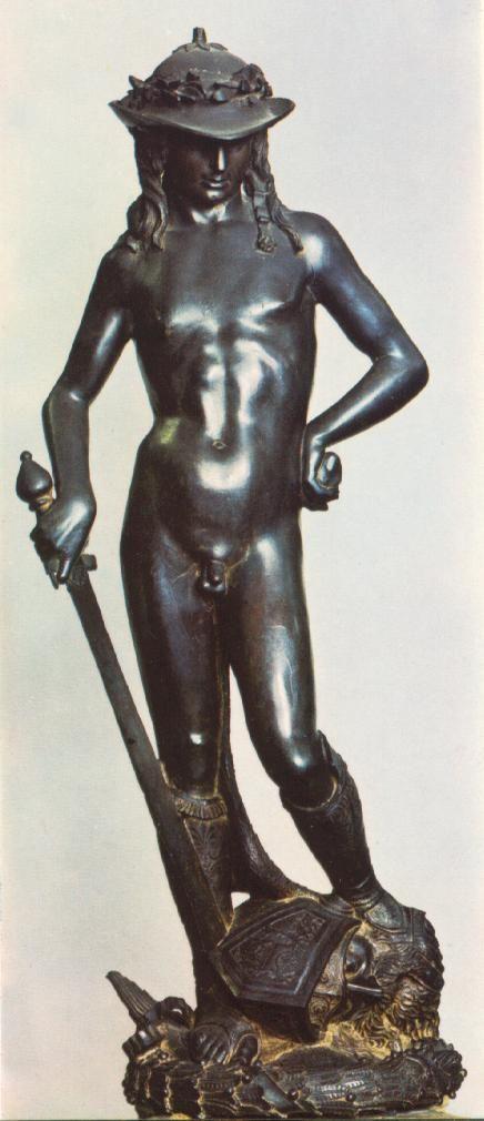 Donatello (1386-1466)  David  Bronze  1430  Museo Nazionale del Bargello (Florence, Italy)