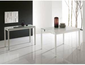 Wake tavolo consolle allungabile tavolo consolle for Consolle allungabile laccata bianca