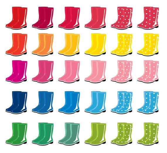 75% OFF SALE 30 colors rain boots rainy day by CockatooDesign