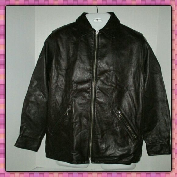 Women's Leather Coat NWOT very nice coat it is genuine leather INC International Concepts Jackets & Coats