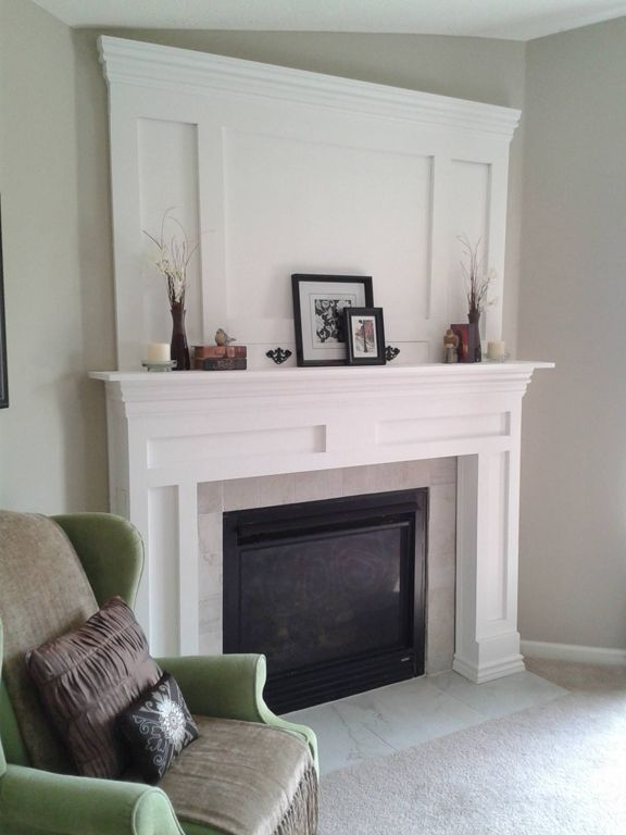 DIY fireplace mantle and surround