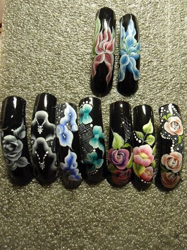 One stroke  by TothEfa - Nail Art Gallery nailartgallery.nailsmag.com by Nails Magazine www.nailsmag.com #nailart