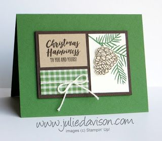 Stampin' Up! Christmas Happiness: 6 Holiday Projects ~ 2017 Holiday Catalog ~ www.juliedavison.com