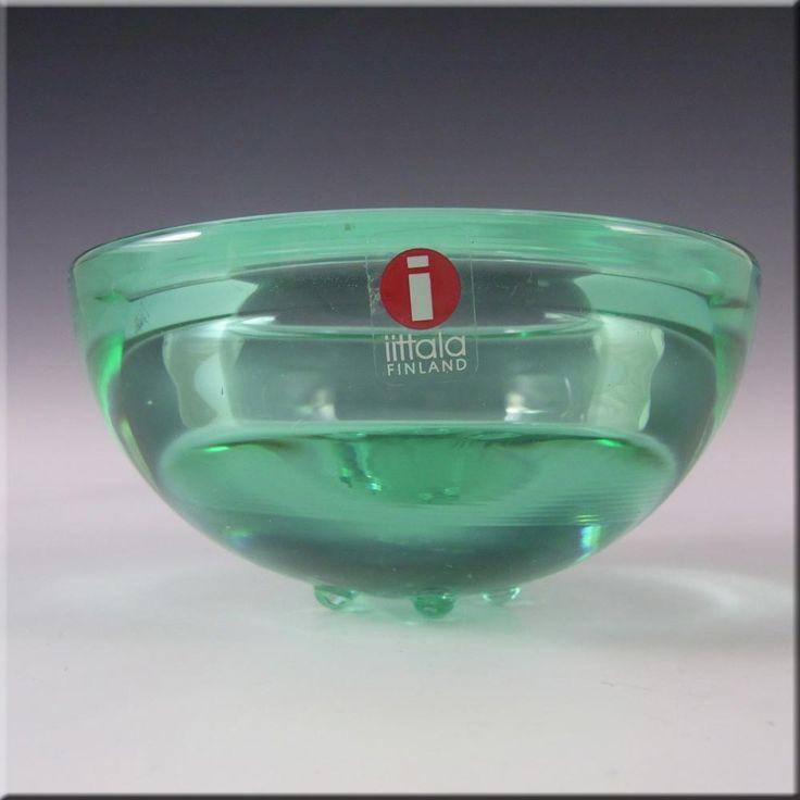 Iittala Green Glass Annaleena Hakatie Candle Votive/Bowl - £20.00
