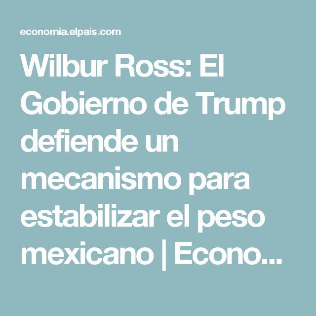 Wilbur Ross:  El Gobierno de Trump defiende un mecanismo para estabilizar el peso mexicano | Economía | EL PAÍS