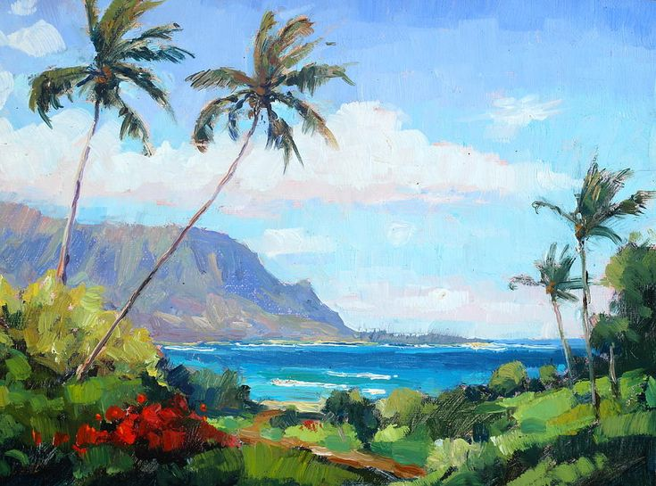 hanalei Bay Resort View Painting