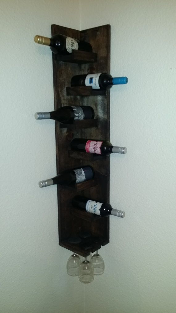 Hey, I found this really awesome Etsy listing at https://www.etsy.com/listing/183725676/corner-wine-rack-with-glasses-holder