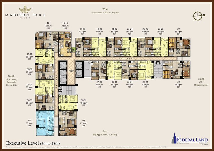 madison park west executive floor plan 7th to 28th floor