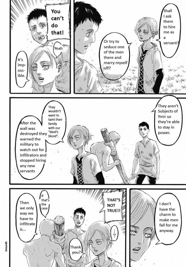 Shingeki no Kyojin Chapter 96 - Bertholdt's being smooth as hell. Annie's bitter derision marrying off one of the walldians. Reiner the shirtless man young man xD