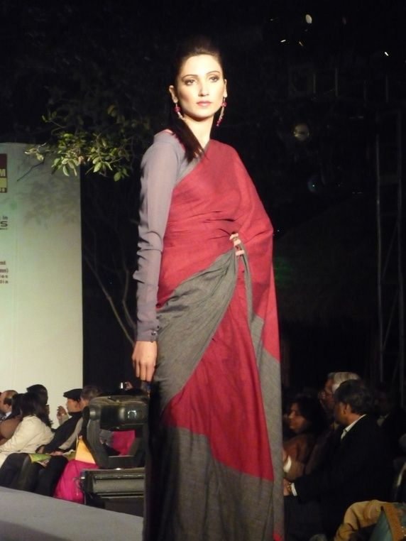 Wardrobe essential: handloom saris :)