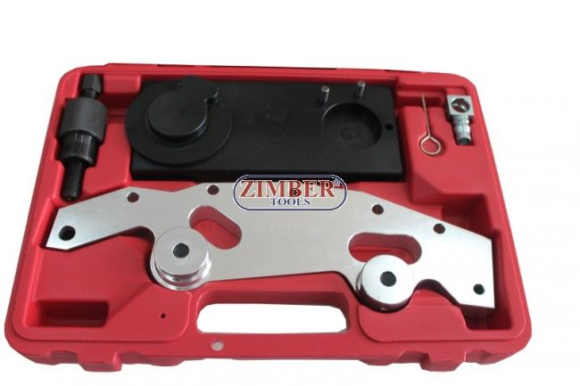 Engine Double Vanos Camshaft Alignment Tool Set Kit Tools For BMW M52TU M54 M56, ZR-36ETTSB13- ZIMBER  TOOLS.  Engine Double Vanos Camshaft Alignment Tool Set Kit Tools For BMW M52TU M54 M56. Contains the tools necessary to assemble and properly time the dluble VANOS camshaft adjustment unit foun in 1998 and later 6 cylinder engines.Applicable: BMW 6 cylinder engine: M52TU (1998-2000), M54 (2001-2004), & M56 (2003 to present)