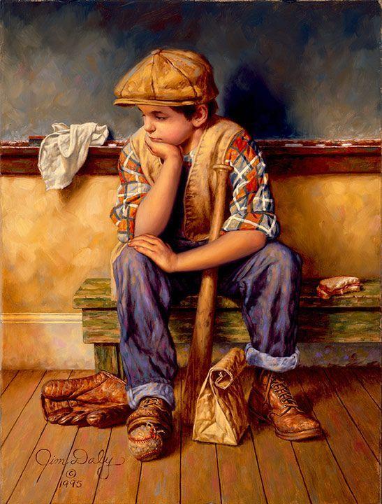 Chuva, chuva, vá embora. 1995. Óleo sobre tela. Jim Daly (Holdenville, OK, USA, 1951 - ).