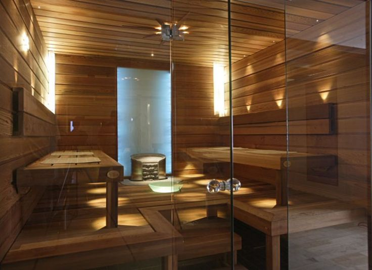 Glass wall in a sauna is on my wish list! from Helo – Finland