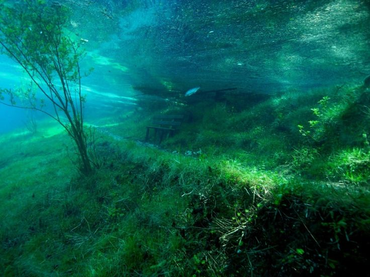 Austria's Green Lake Park in the Hochschwab Mountains goes underwater as snow melts in spring.